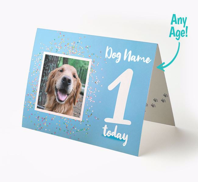 Birthday Card featuring a Photo of your Golden Retriever