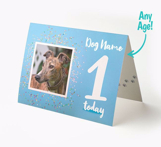 Birthday Card featuring a Photo of your Greyhound