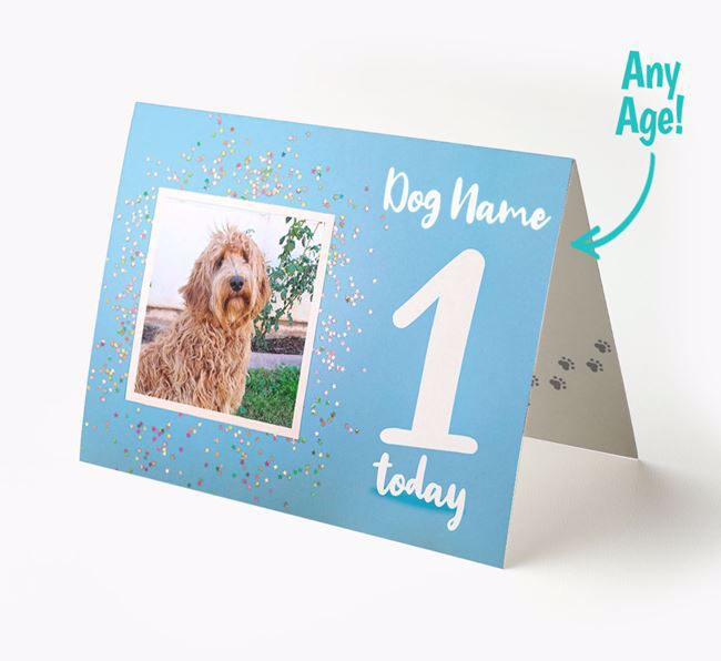 Birthday Card featuring a Photo of your Labradoodle