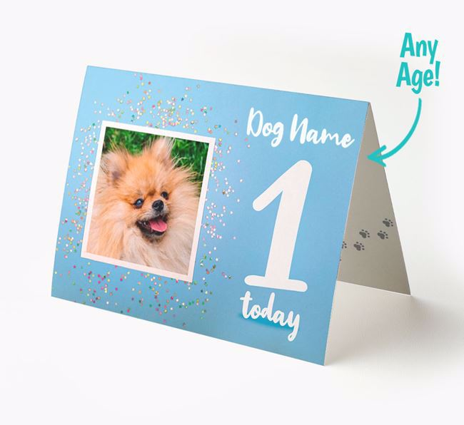 Birthday Card featuring a Photo of your Pomeranian