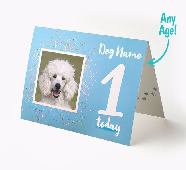 Birthday Card featuring a Photo of your Poodle
