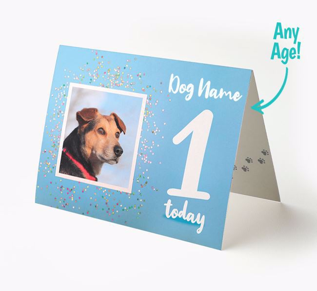 Birthday Card featuring a Photo of your Puggle