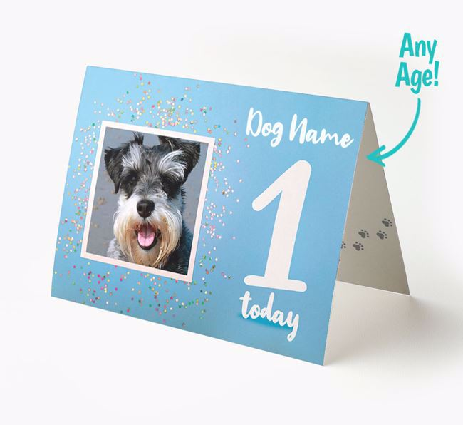 Birthday Card featuring a Photo of your Schnauzer