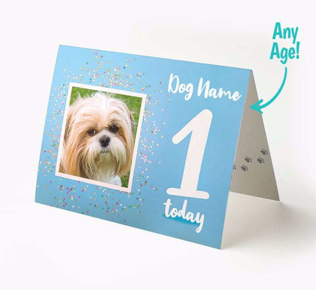 Birthday Card featuring a Photo of your Shih Tzu