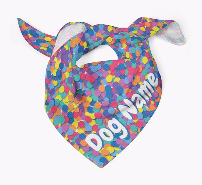 Personalized 'Confetti' Bandana for Your Dog