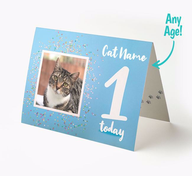 Birthday Card with photo of your Cat