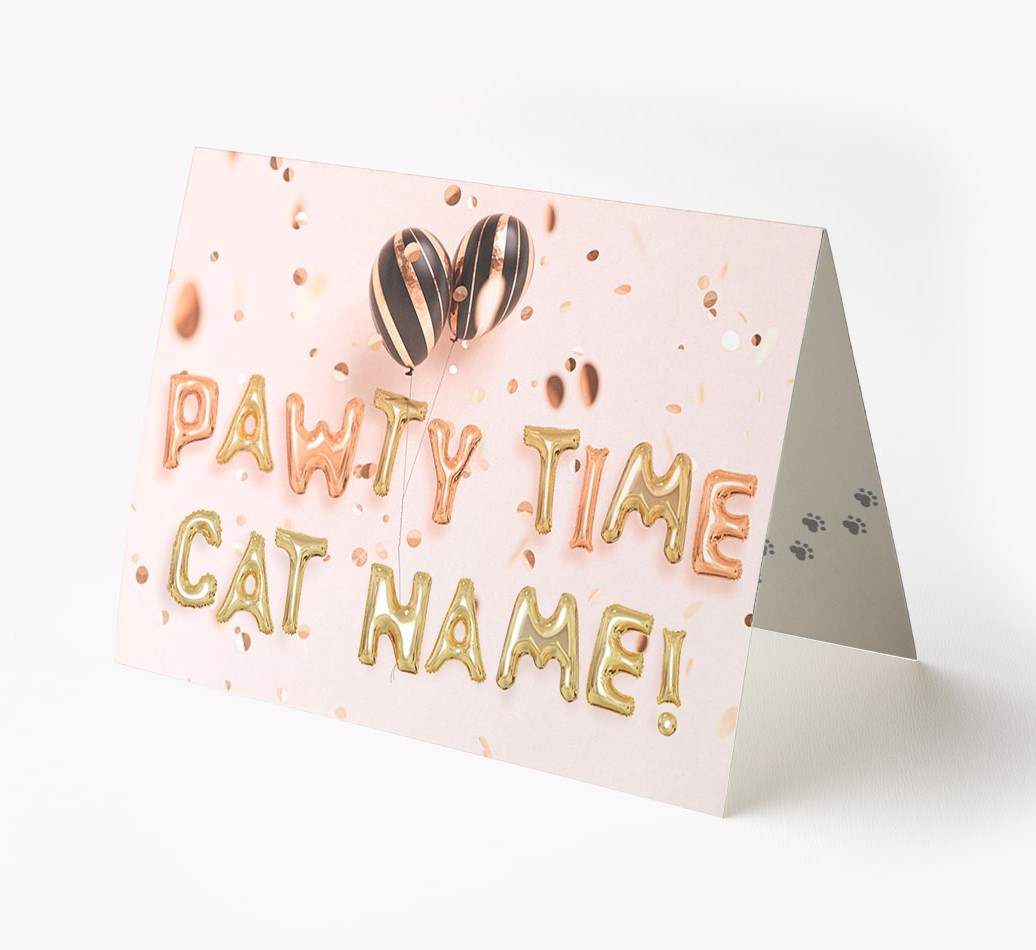 Personalized Greeting Card Pawty Time