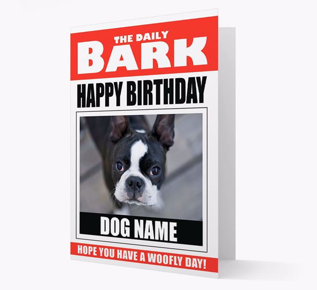 'Happy Birthday' Newspaper - Personalized Card with Photo of your Dog