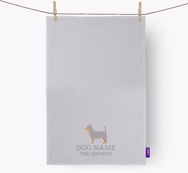 Personalized 'Your Dog The Chorkie' Dish Towel