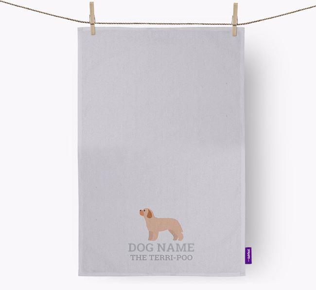 Personalized 'Your Dog The Terri-Poo' Dish Towel