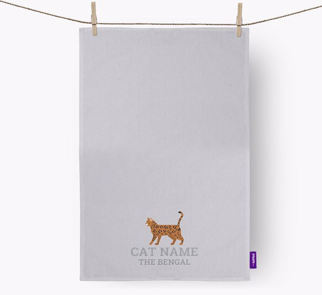 Personalized 'Your Cat The Bengal' Dish Towel