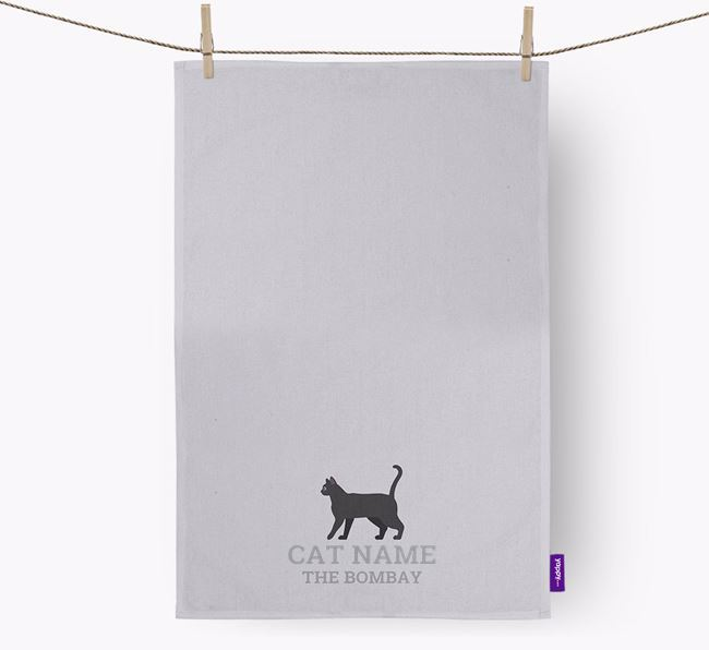 Personalized 'Your Cat The Cat' Dish Towel
