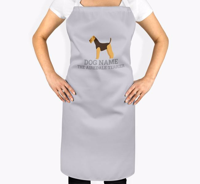 Personalised 'Your Dog The Airedale Terrier' Apron