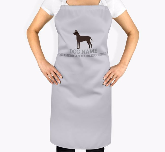 Personalized 'Your Dog The American Hairless Terrier' Apron