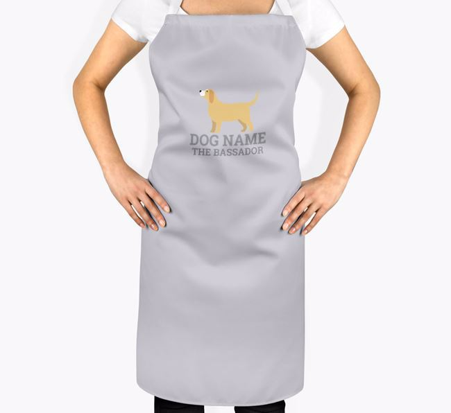 Personalised 'Your Dog The Bassador' Apron