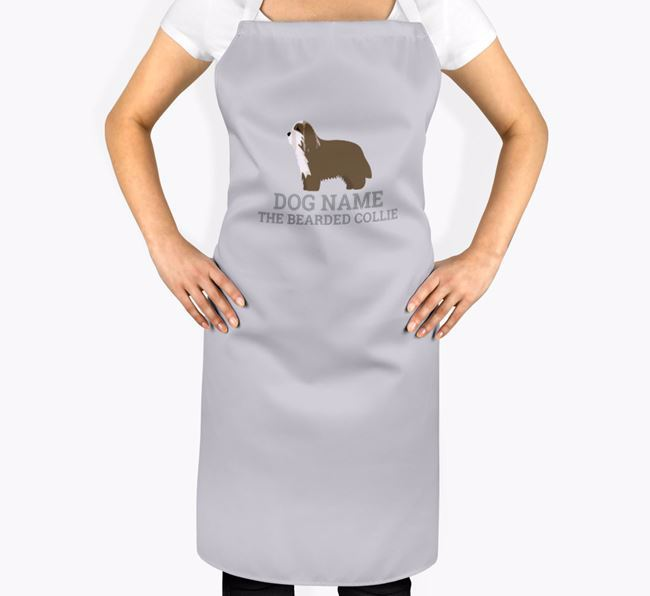 Personalized 'Your Dog The Bearded Collie' Apron