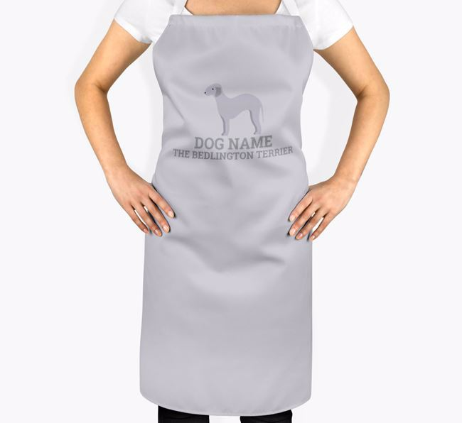 Personalised 'Your Dog The Bedlington Terrier' Apron