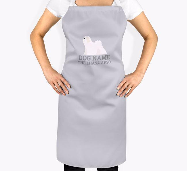 Personalised 'Your Dog The Lhasa Apso' Apron