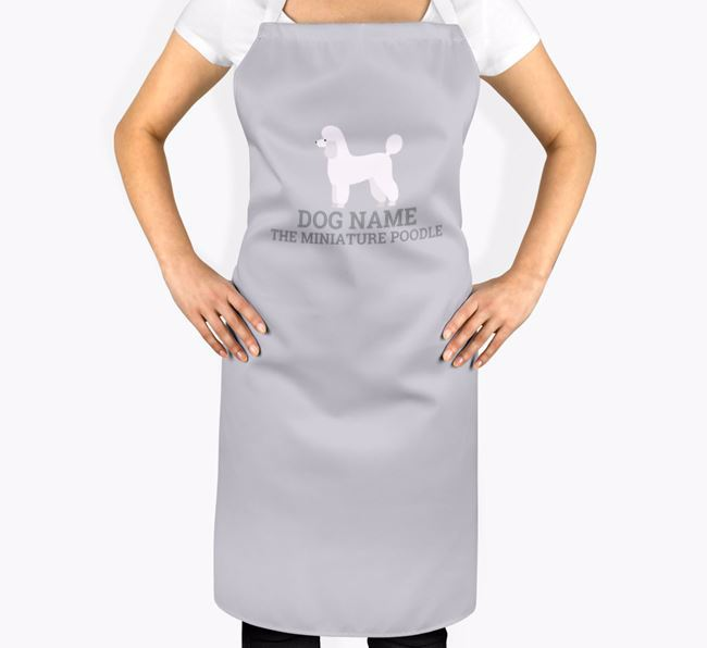 Personalized 'Your Dog The Miniature Poodle' Apron