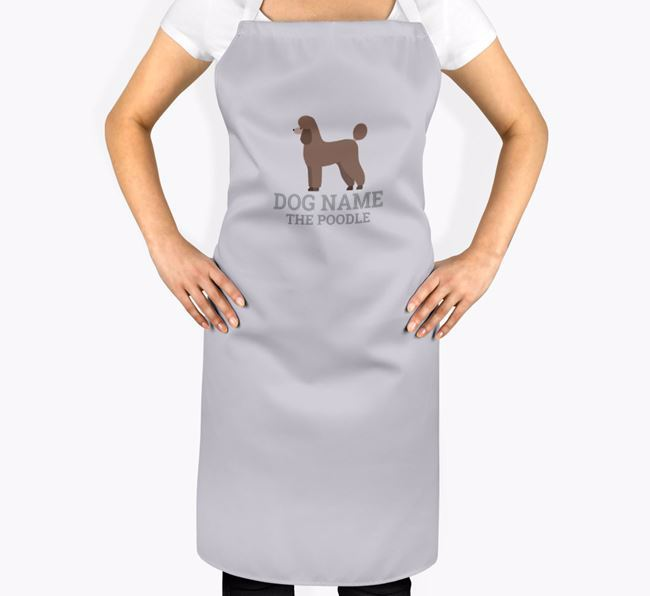 Personalised 'Your Dog The Poodle' Apron