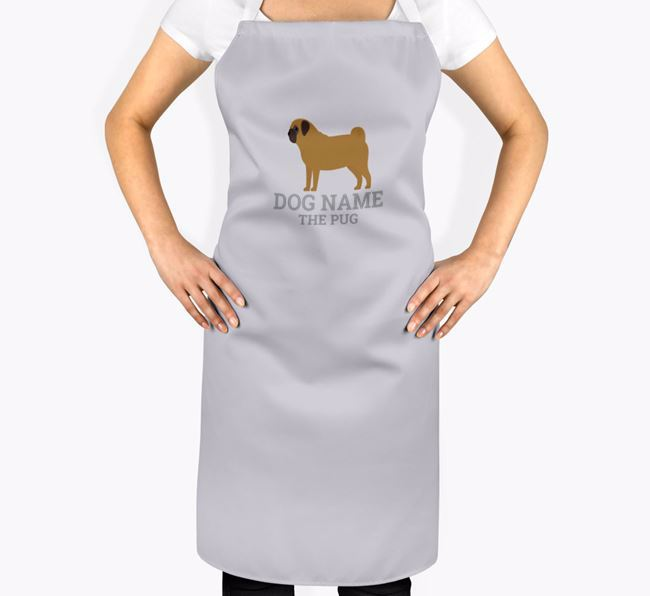 Personalized 'Your Dog The Pug' Apron