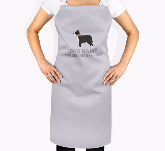 Personalized 'Your Dog The Siberian Cocker' Apron