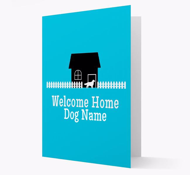 Welcome Home Golden Retriever Personalised Card