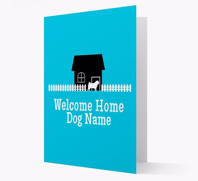 Welcome Home Pug Personalised Card