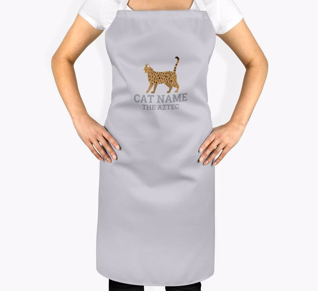 Personalised 'Your Cat The Cat' Apron