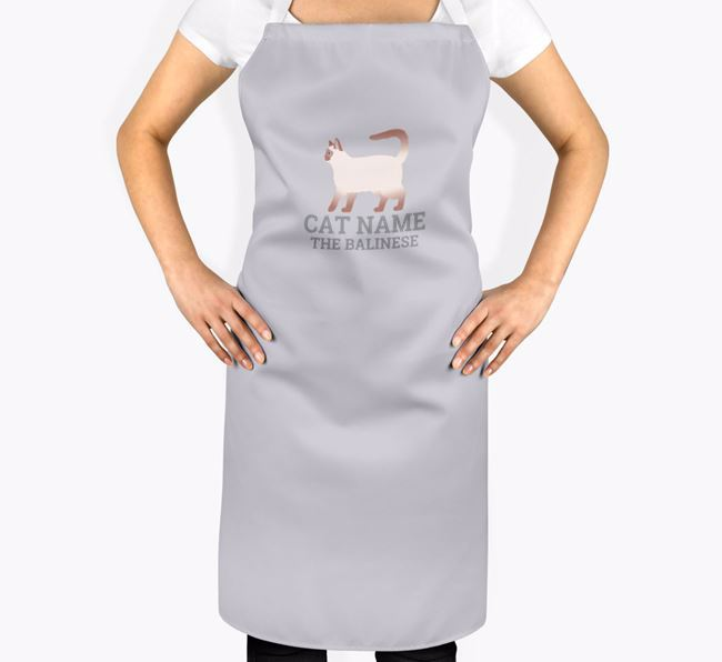 Personalized 'Your Cat The Balinese' Apron