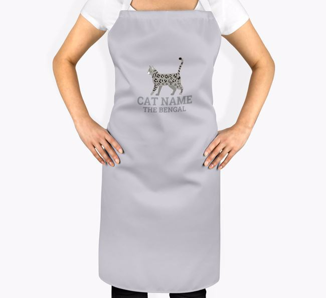 Personalised 'Your Cat The Bengal' Apron