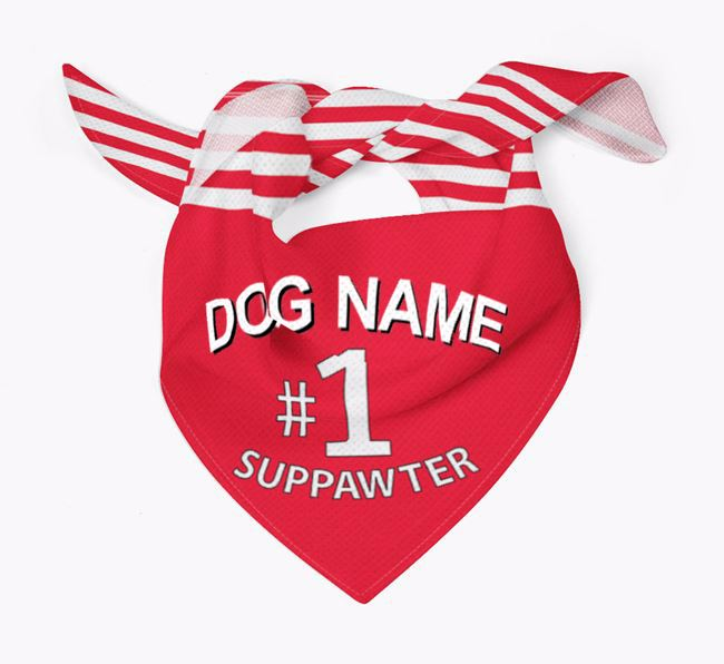 'No.1 Suppawter' - Personalised Jack Russell Terrier Bandana