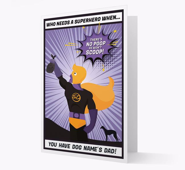 'Who Needs A Superhero?' - Personalised Dog Father's Day Card