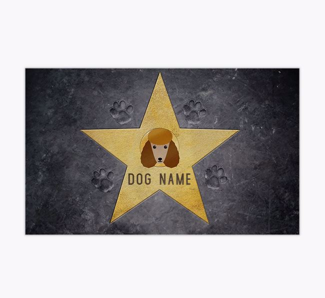 'Star of Fame' - Personalised Poodle Feeding Mat