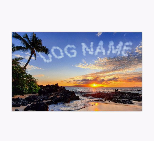 Beach Clouds - Personalised Poodle Feeding Mat