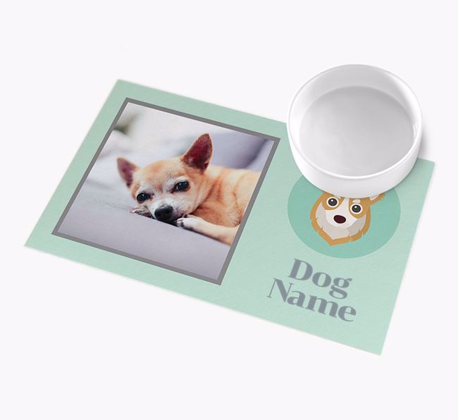 Photo Upload with Icon - Personalised Chihuahua Feeding Mat