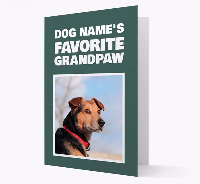 'Favorite Grandpaw' - Personalized Blue Lacy Card