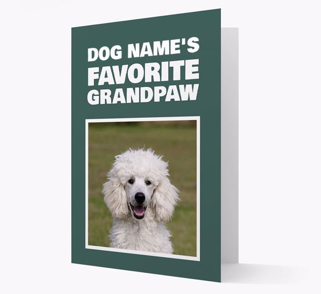 'Favorite Grandpaw' - Personalized Poodle Card