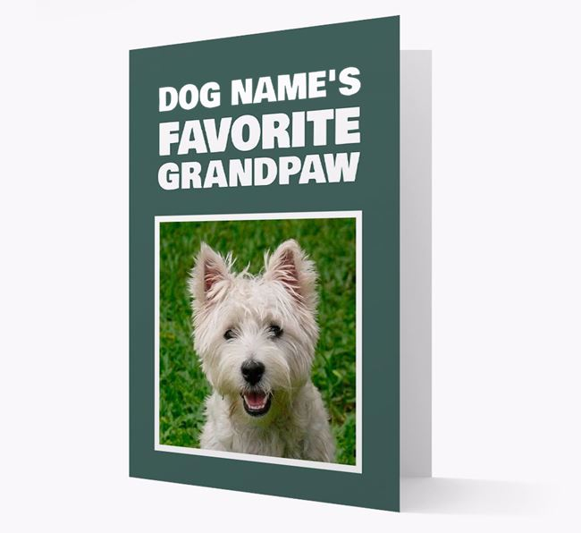 'Favorite Grandpaw' - Personalized West Highland White Terrier Card