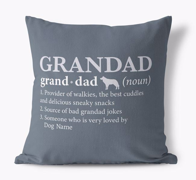 'Definition of Grandad' -  Personalized Dog Canvas Pillow