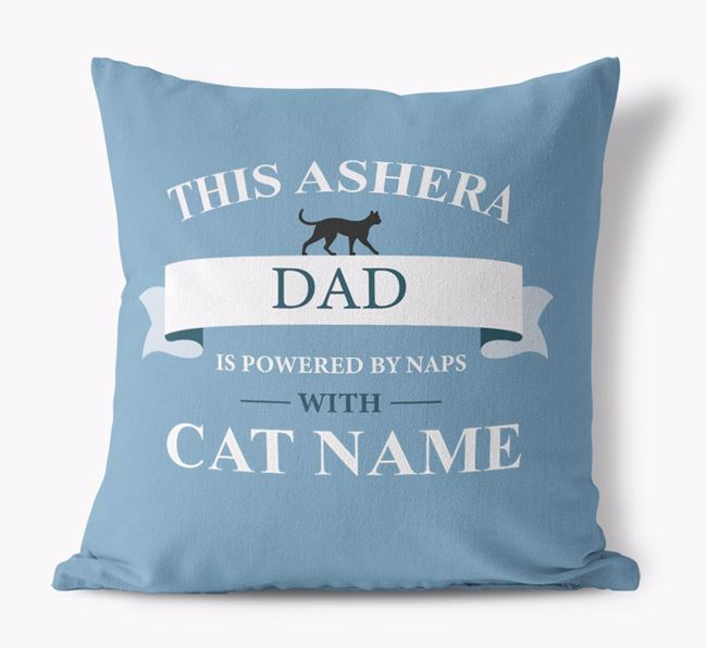 'This Ashera Dad Is Powered by Naps With...' - Personalized Canvas Pillow