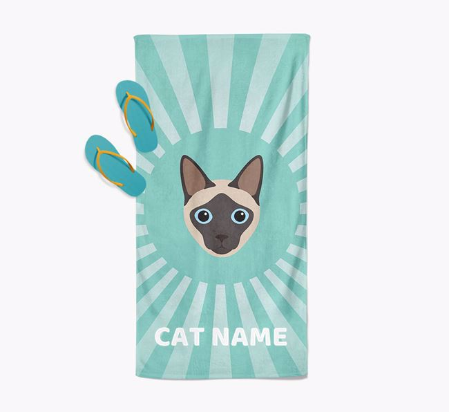 'Rays' - Personalized Siamese Towel