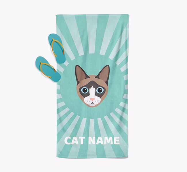 'Rays' - Personalized Cat Towel