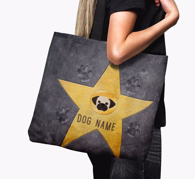 Personalized Your Dog 'Star of Fame' Canvas Bag