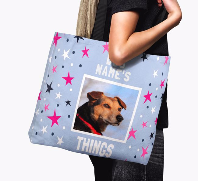 Personalised Airedale Terrier Photo Upload Canvas Bag