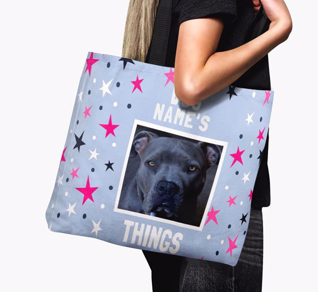 Personalised American Pit Bull Terrier Photo Upload Canvas Bag