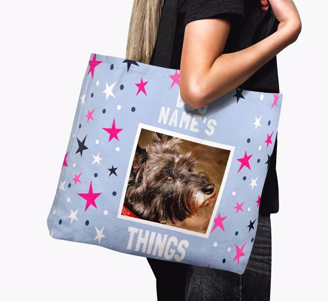Personalised Cairn Terrier Photo Upload Canvas Bag