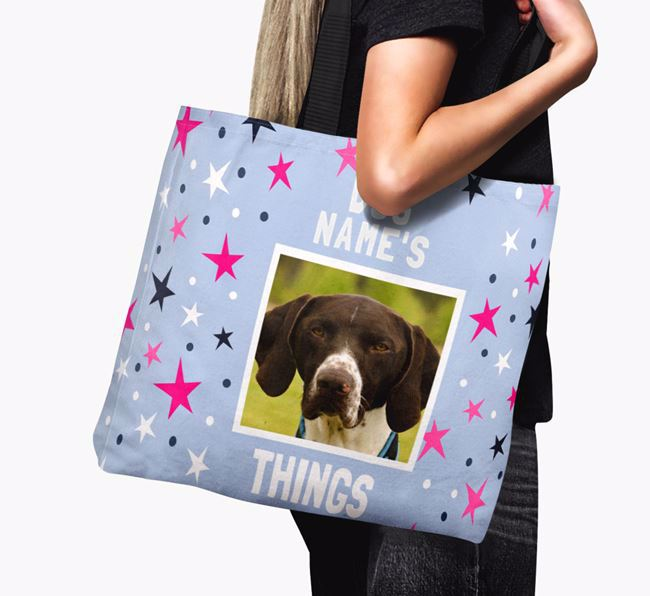 Personalised German Shorthaired Pointer Photo Upload Canvas Bag