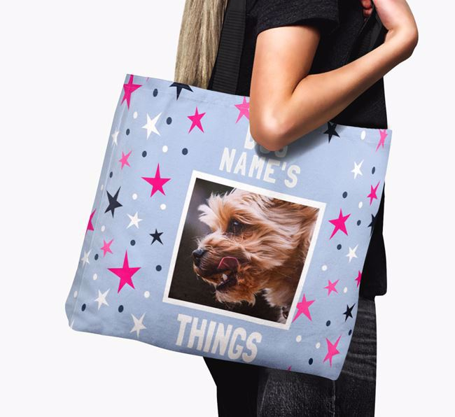 Personalised Yorkshire Terrier Photo Upload Canvas Bag