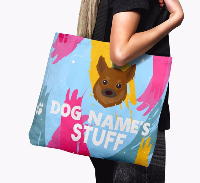'Paint Splatter' - Personalized Chihuahua Canvas Bag